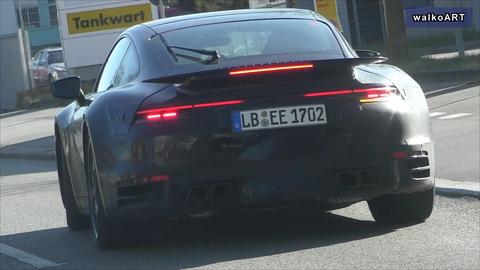 The New Porsche 911 Turbo Is Out Testing in Germany