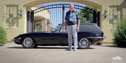 Land vehicle, Vehicle, Car, Classic car, Automotive design, Sedan, Antique car, Coupé, Classic, Jaguar e-type,