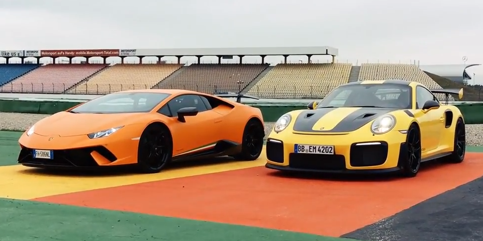 When A Porsche 911 GT2 RS Races A Lamborghini Huracan Performante, We All  Win