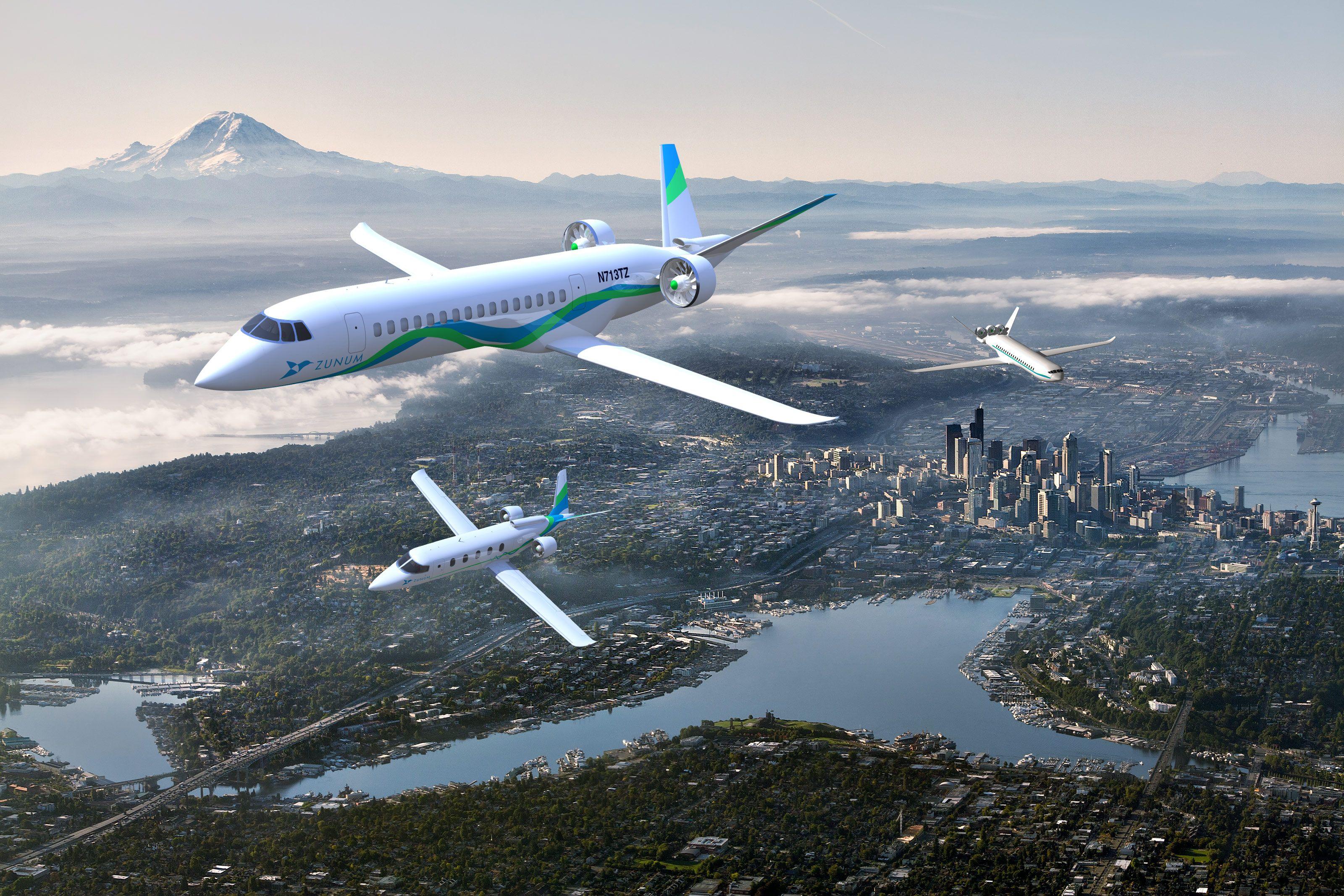 zunum aero electric plane