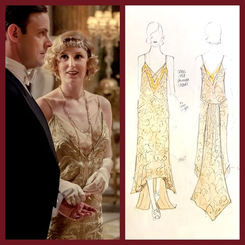 Downton Abbey Costume Designer Anna Robbins On Lady Edith S Ball Gown