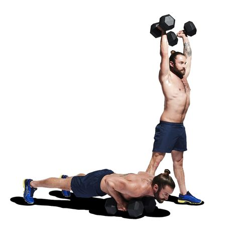 Weights, Exercise equipment, Kettlebell, Dumbbell, Shoulder, Arm, Joint, Sports equipment, Abdomen, Physical fitness,