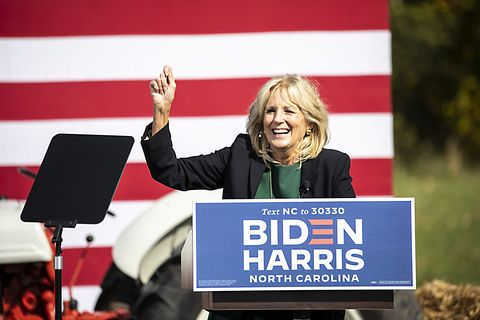 jill biden and amy schumer attend biden for president north carolina get out the vote drive in rally   charlotte, nc