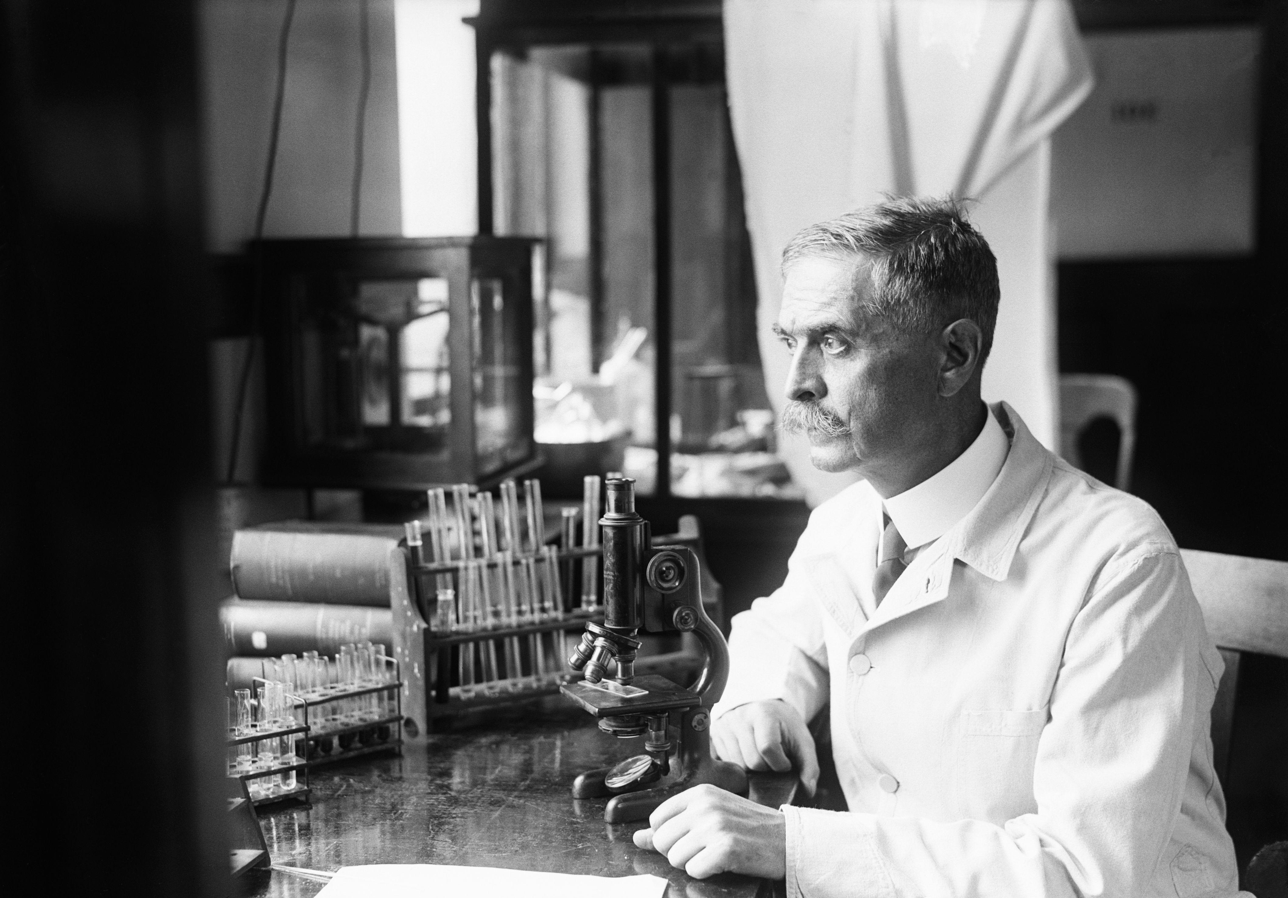 Dr. Karl Landsteiner At His Desk