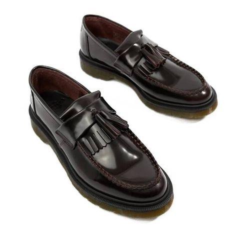 dr martens   adrian   loafers met kwastjes in bordeauxrood