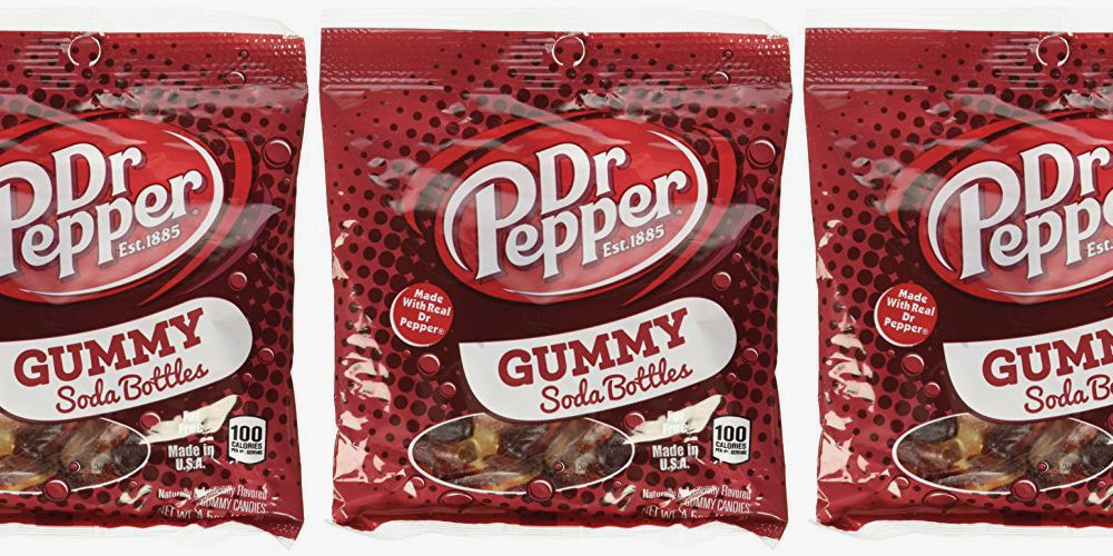 Dr Pepper Gummy Soda Bottles Are Made With Actual Soda, So It Tastes Like The Real Thing