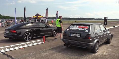 Drag race Volkswagen Audi