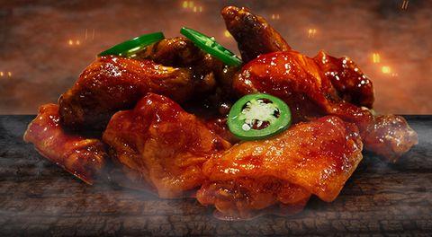 Food, Dish, Cuisine, Font, Ingredient, Recipe, Meat, Fried food, appetizer, Chicken meat,