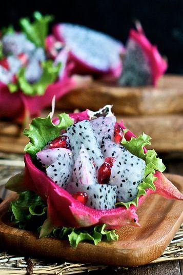 cut dragon fruit