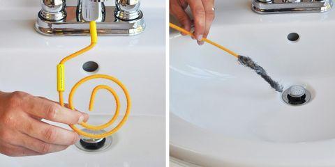 Hand, Plumbing, Sink, Plumbing fixture, Wire, Cable, Metal,
