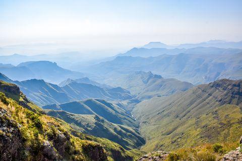 Mountainous landforms, Mountain, Mountain range, Sky, Highland, Nature, Ridge, Hill station, Wilderness, Vegetation,