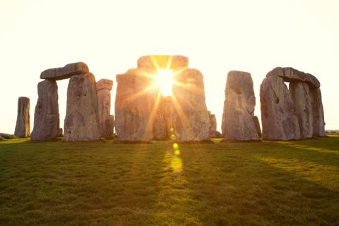 Dramatic Sunset at Stonehenge Horizontal