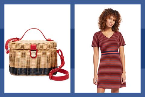 Bag, Basket, Picnic basket, Handbag, Electric blue, Wicker, Fashion accessory, Home accessories, Pattern,