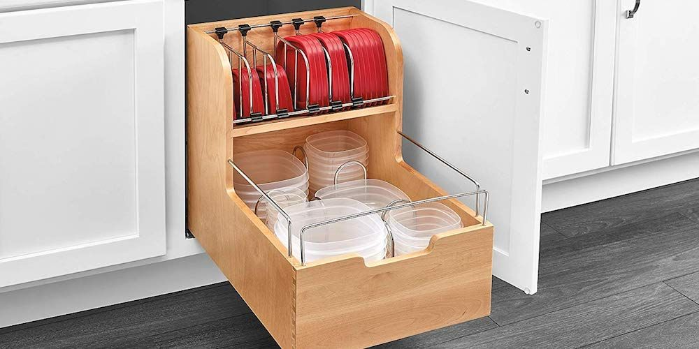 Thanks To This Drawer Organizer You Ll Never Lose A Container S Matching Lid Again