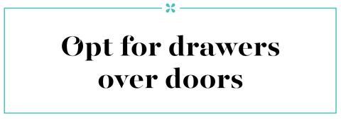 drawers over doors