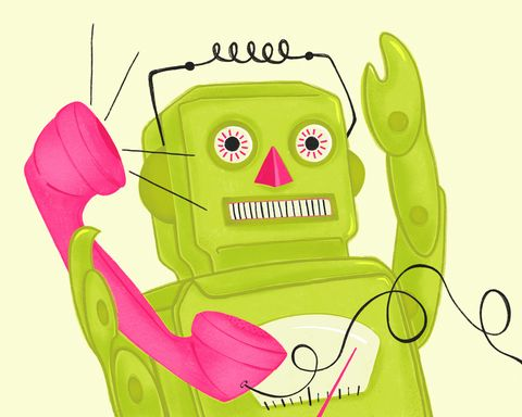 Drawing of Robot with Phone