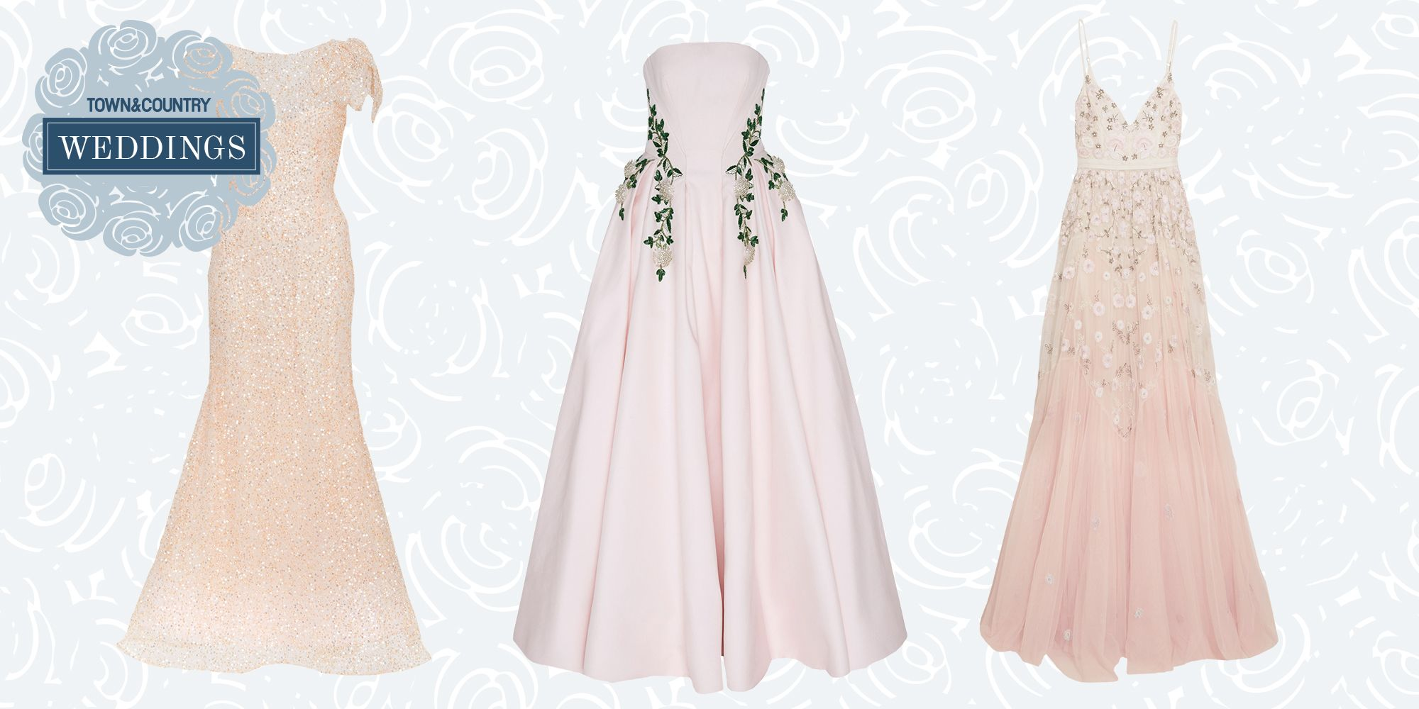 10 Perfectly Pink Wedding Dresses for the Unconventional Bride