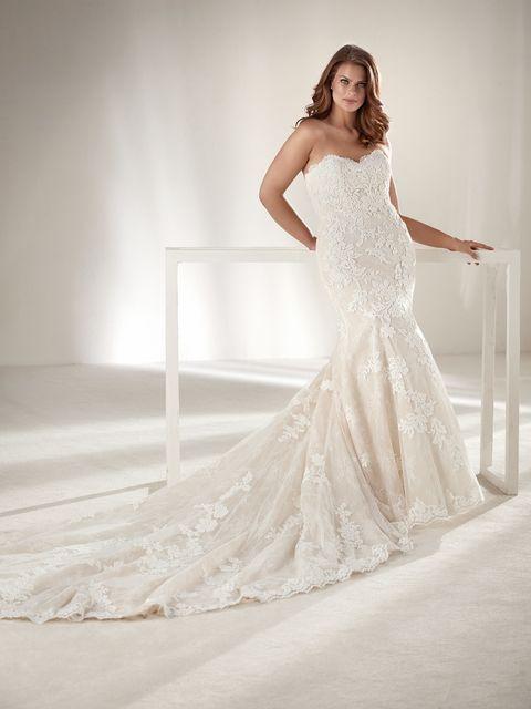 Pronovias lanza una línea de vestidos de novia para tallas grandes ...
