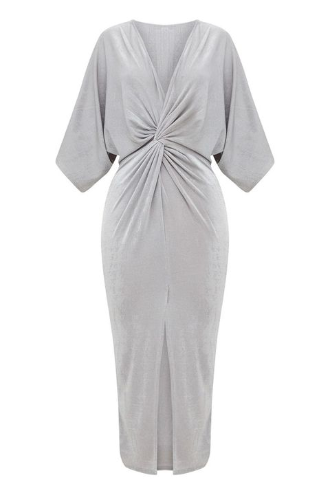Clothing, White, Dress, Day dress, Sleeve, Robe, Cocktail dress, Gown, Nightwear, Satin,