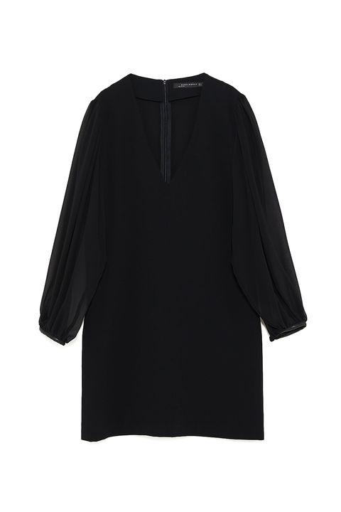 Clothing, Black, Sleeve, Outerwear, Blouse, Shoulder, Neck, Top, Shirt, T-shirt,