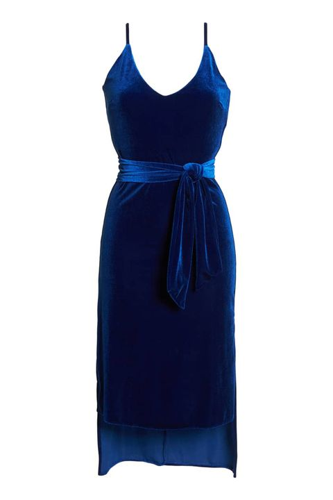 Cobalt blue, Blue, Clothing, Cocktail dress, Dress, Day dress, Electric blue, One-piece garment, Satin, Neck,