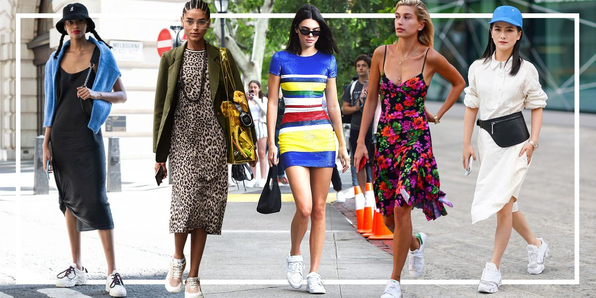 How To Wear A Dress With Sneakers What To Wear With Sneakers