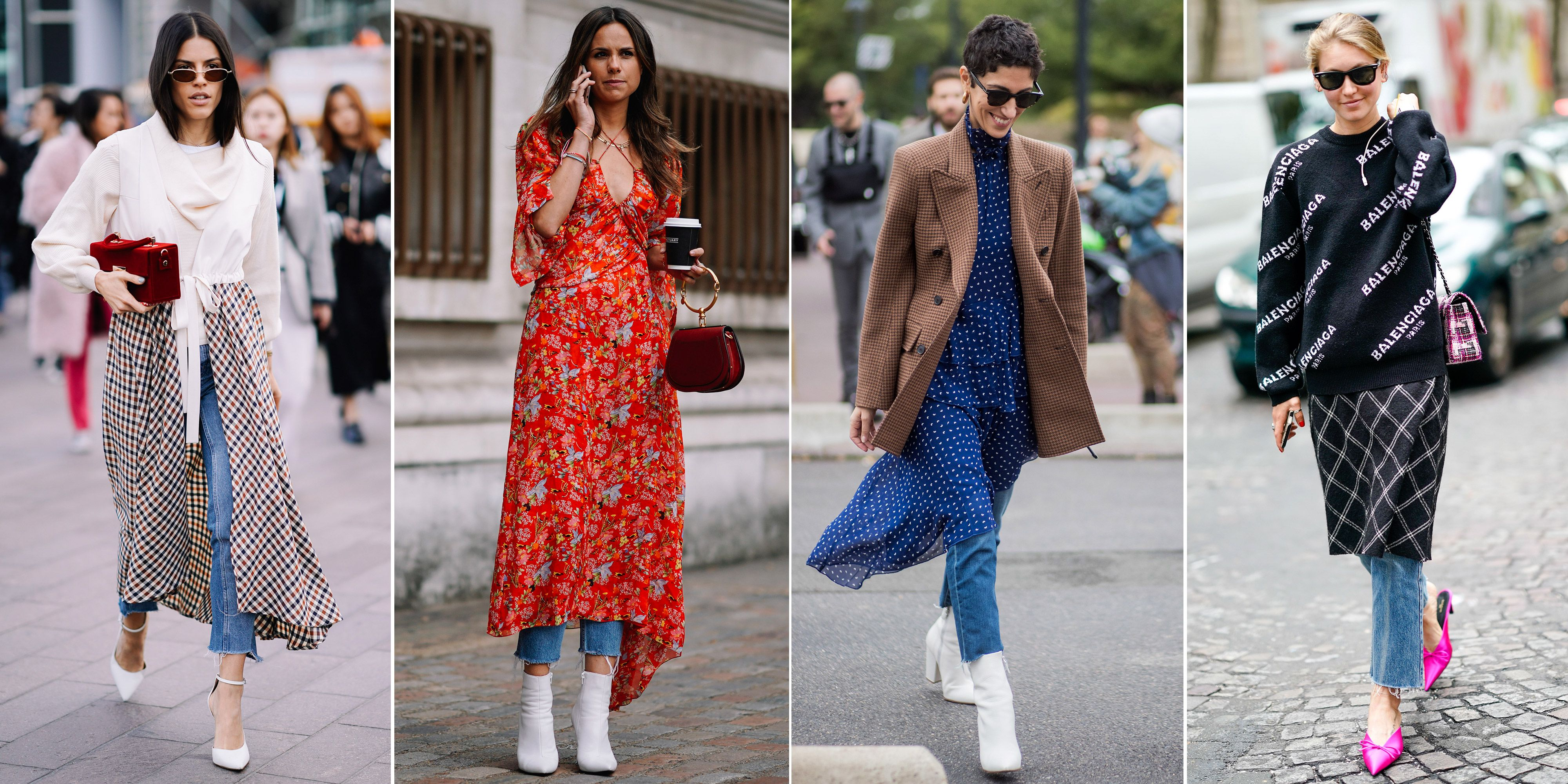 How To Wear Dresses Over Jeans Styling Advice For Wearing Trousers