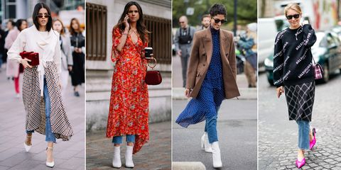 14d0d310ba How to wear dresses over jeans – Styling advice for wearing dresses ...