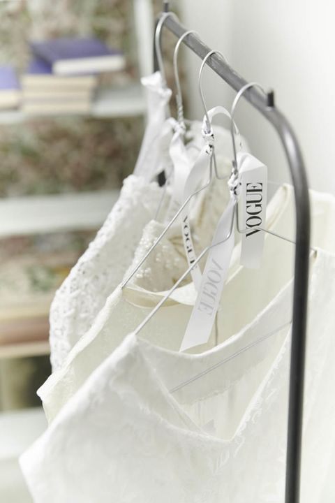 White, Product, Clothes hanger, Dress, Furniture, Room, Textile, Linens,