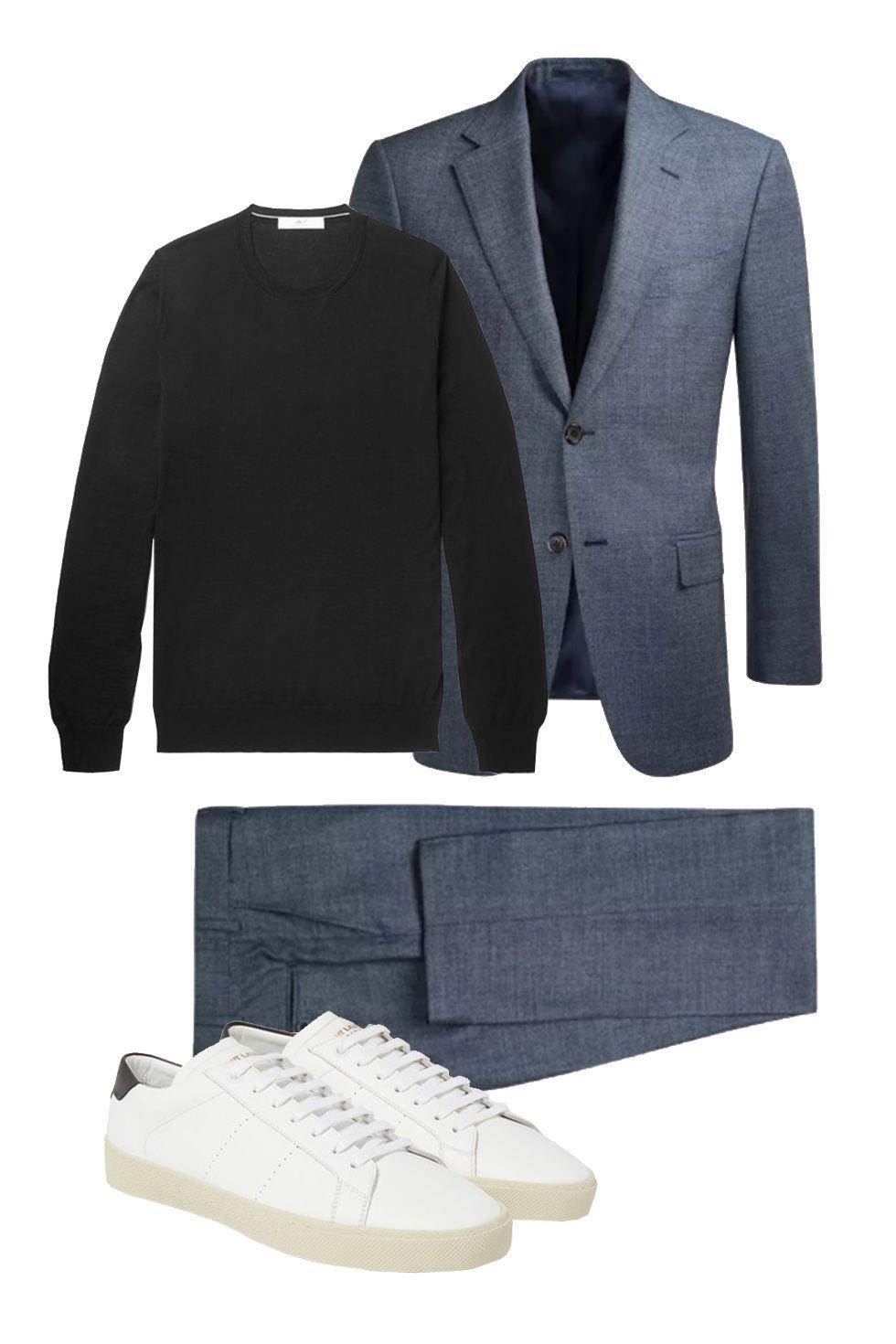 Mens Shiny Suits Blazer Bar Coat Jacket /&Pant Dress Formal Slim Party Club Suit