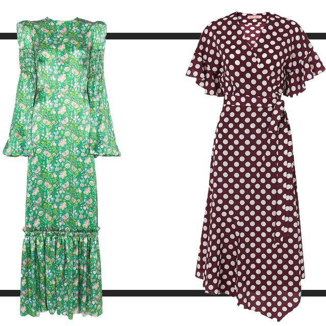 Clothing, Day dress, Dress, Green, Polka dot, Pattern, Design, Pattern, Costume design, Outerwear,
