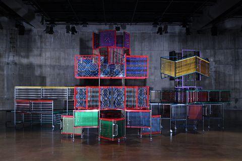 A view of Haegue Yang's retrospective at the Triennale di Milano.