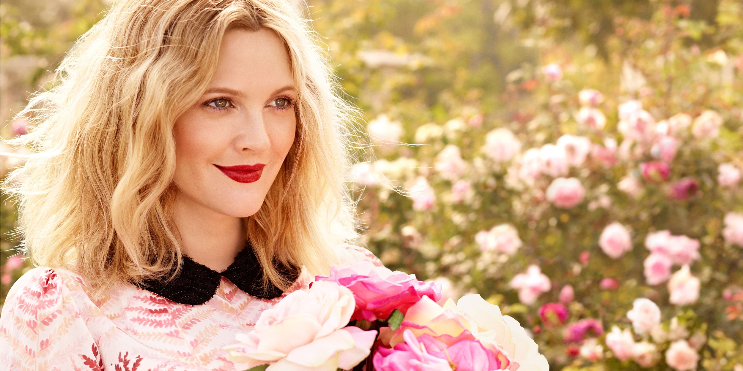 Drew Barrymore beauty interview