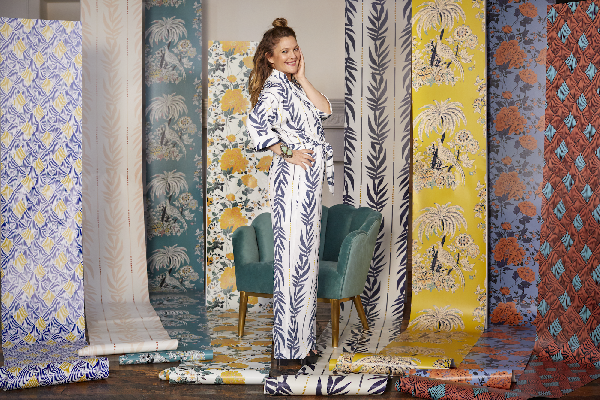 Drew Barrymore Flower Home Collection Has Peel And Stick Wallpaper