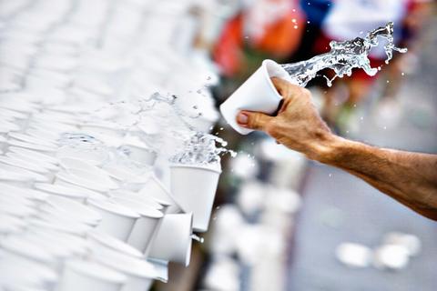 drinken marathon hardlopen beker
