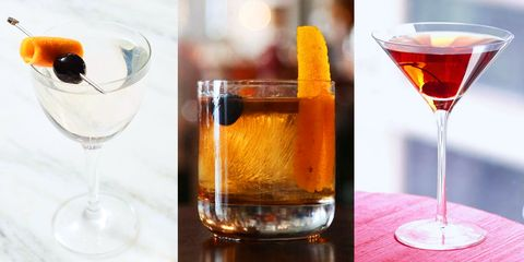 Drink, Alcoholic beverage, Classic cocktail, Manhattan, Cocktail, Distilled beverage, Rob roy, Wine glass, Amaretto, Old fashioned,