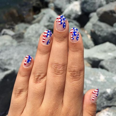 Dripping Stars and Stripes