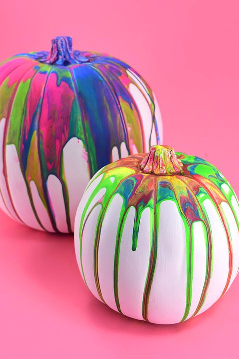 47 halloween pumpkin painting ideas no carve pumpkin decorating