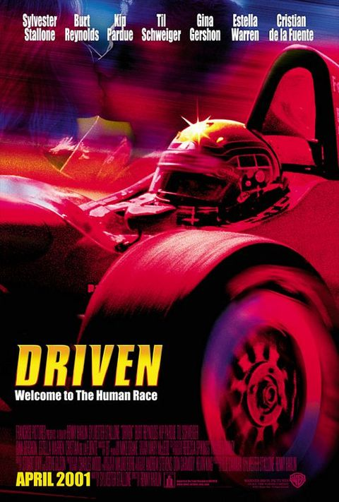 """a movie poster from the 2001 film """"driven"""""""