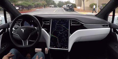 Land vehicle, Vehicle, Car, Motor vehicle, Automotive design, Tesla model s, Steering wheel, Tesla, Luxury vehicle, Mid-size car,