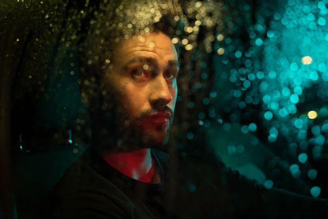 driving under rain at night