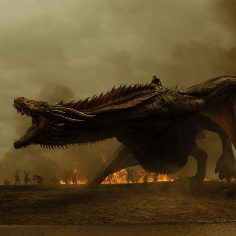 Sky, Dinosaur, Cg artwork, Dragon, Extinction, Wildlife, Tyrannosaurus, Landscape, Fictional character,