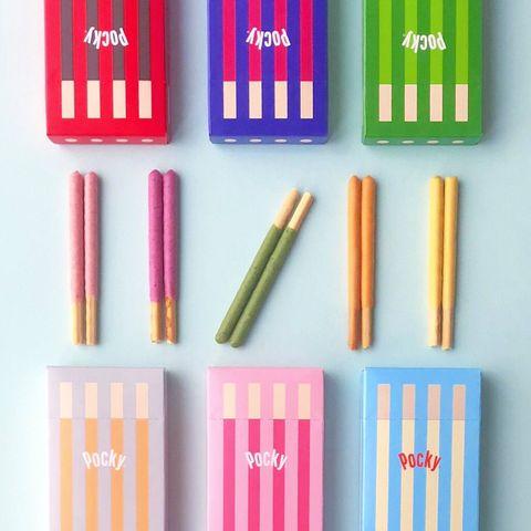 Pocky 禮物版新包裝!極簡設計的迷你紙盒,6個可愛的顏色、6種口味在日本販售啦!