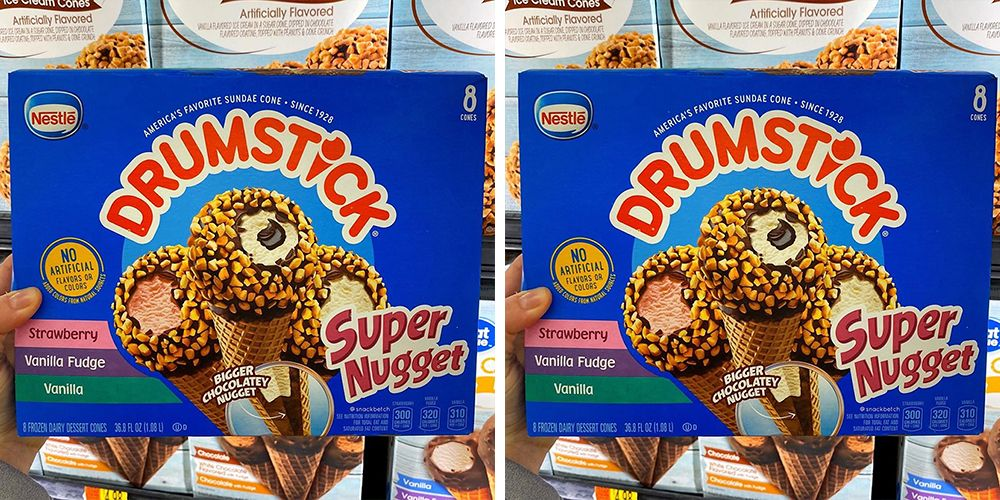 Drumstick Has Super Nugget Ice Cream Cones To Give You More Of That Chocolate Nub