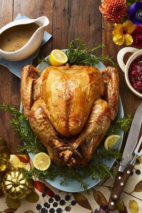 Dry-Brined Lemon-Rosemary Roasted Turkey Recipe