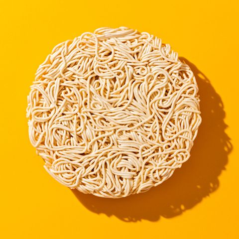 dry uncooked instant noodles