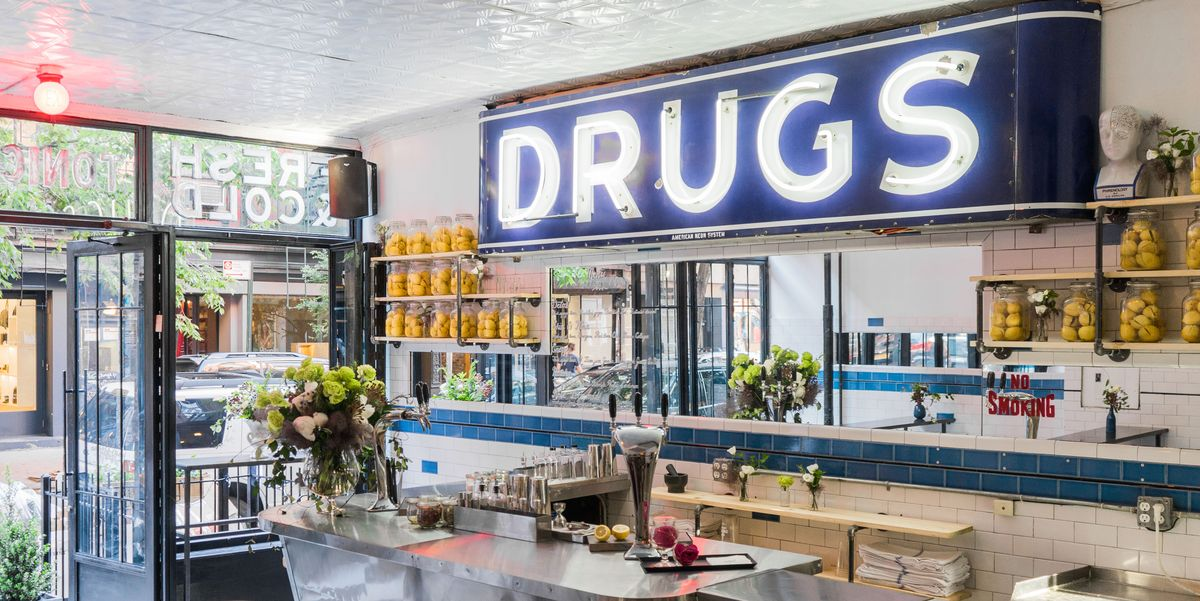 dirty lemon opens its first non alcoholic cocktail bar the drug store. Black Bedroom Furniture Sets. Home Design Ideas