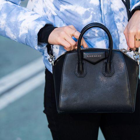 Blue, Bag, White, Handbag, Cobalt blue, Street fashion, Leather, Electric blue, Fashion, Fashion accessory,