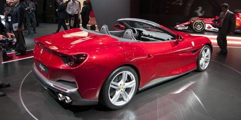 Land vehicle, Vehicle, Car, Ferrari california, Automotive design, Auto show, Motor vehicle, Supercar, Performance car, Luxury vehicle,
