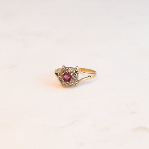 pi london victorian ruby engagement ring